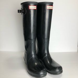 Hunter Original Tall Gloss Boot Black